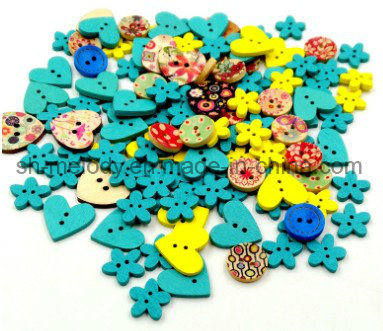 Beautiful Wooden Buttons/Icons for Scrapbooking & DIY Crafts