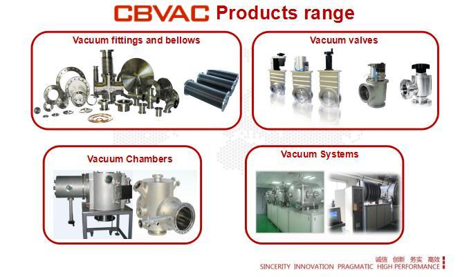 Vacuum Angle Valves with Cfflange Stainless