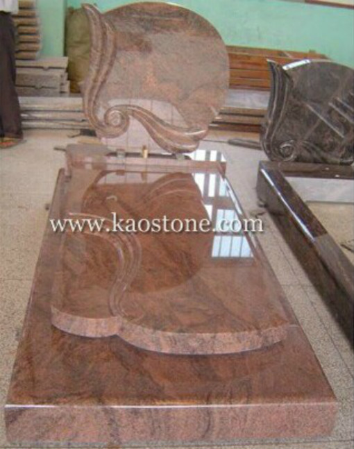 Red Granite Gravestone&Tombstone for European