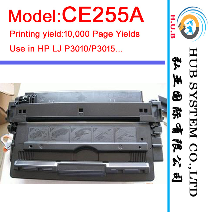 OEM Laser Printer Cartridge for HP Ce255A /Ce255X (for HP P3015 toner)