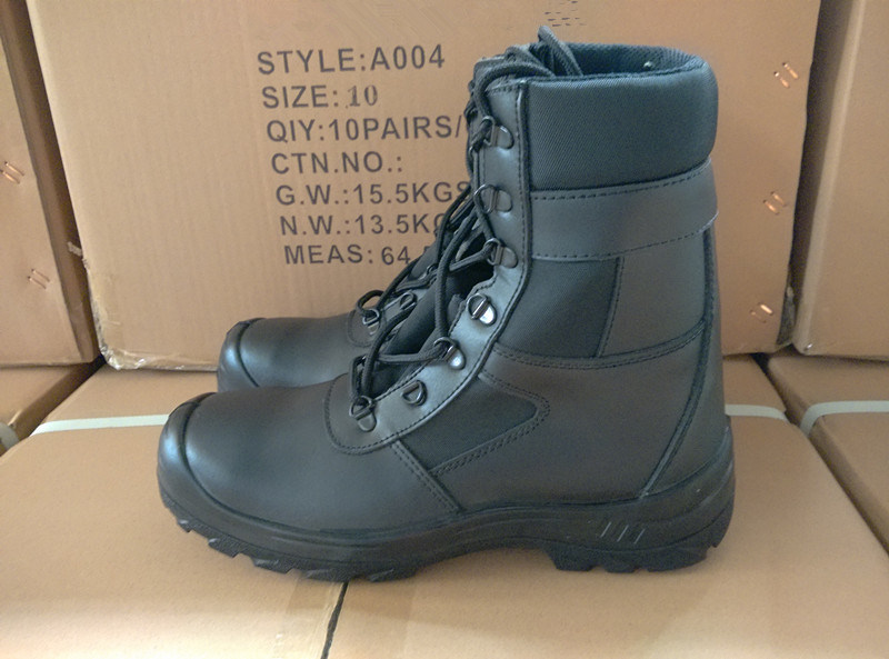 Black Army Grain Safety Boots