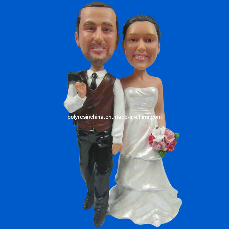 Customized Polyresin Crafts of Wedding Bobble Head