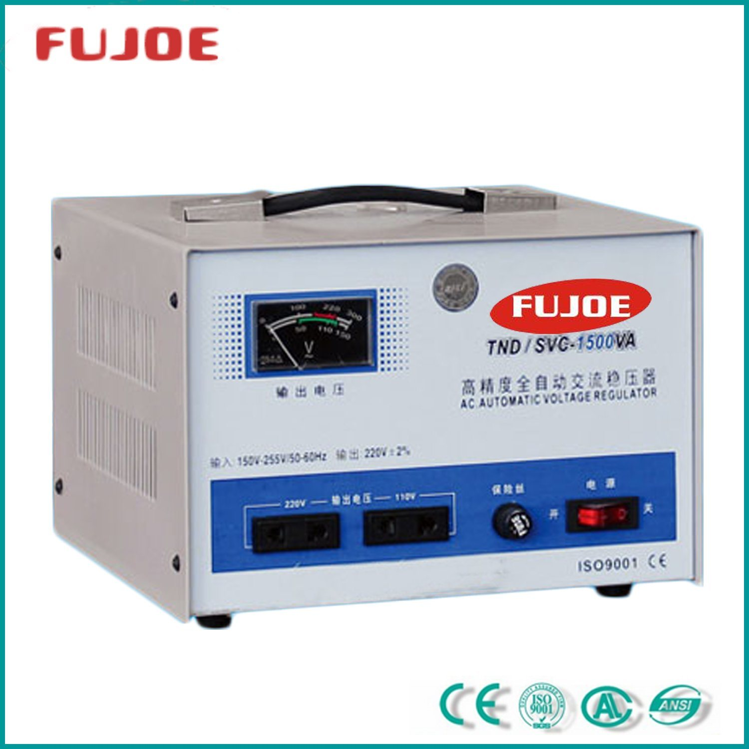 Power Supply Single Phase SVC-1.5kVA Automatic Voltage Stabilizer