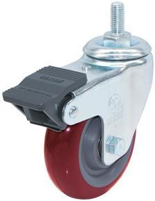Swivel PU Caster Wheel (Red) (3303550)