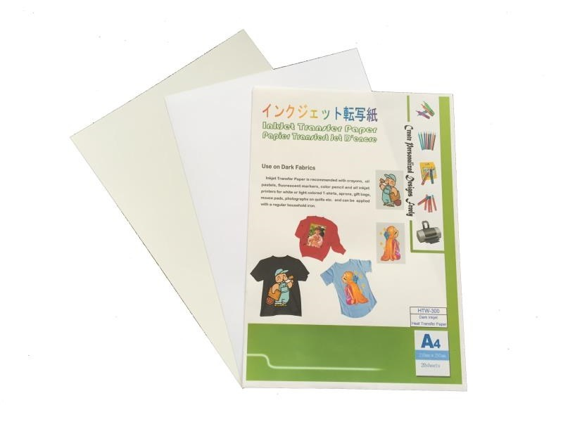 Good Flexible and Washable in Dark Inkjet Transfer Paper