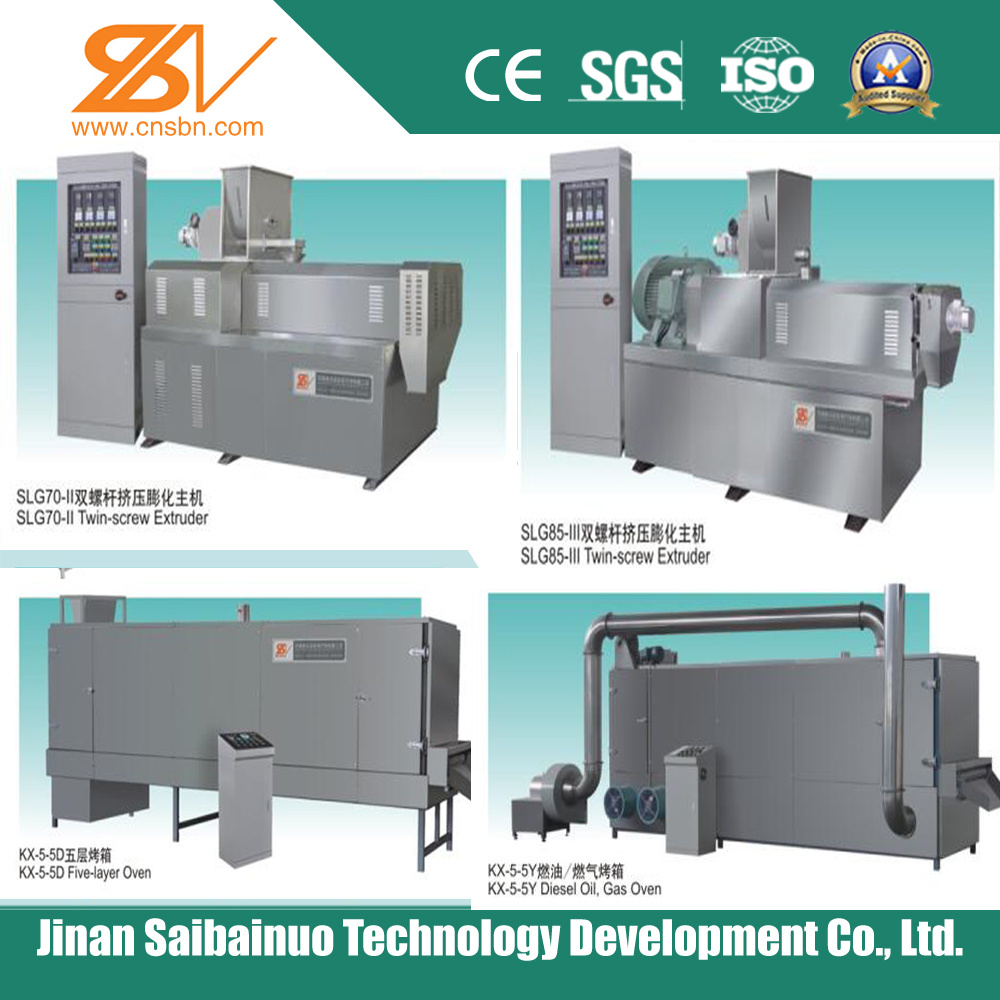 Double Screw Extruder Dog Food Processing Machine