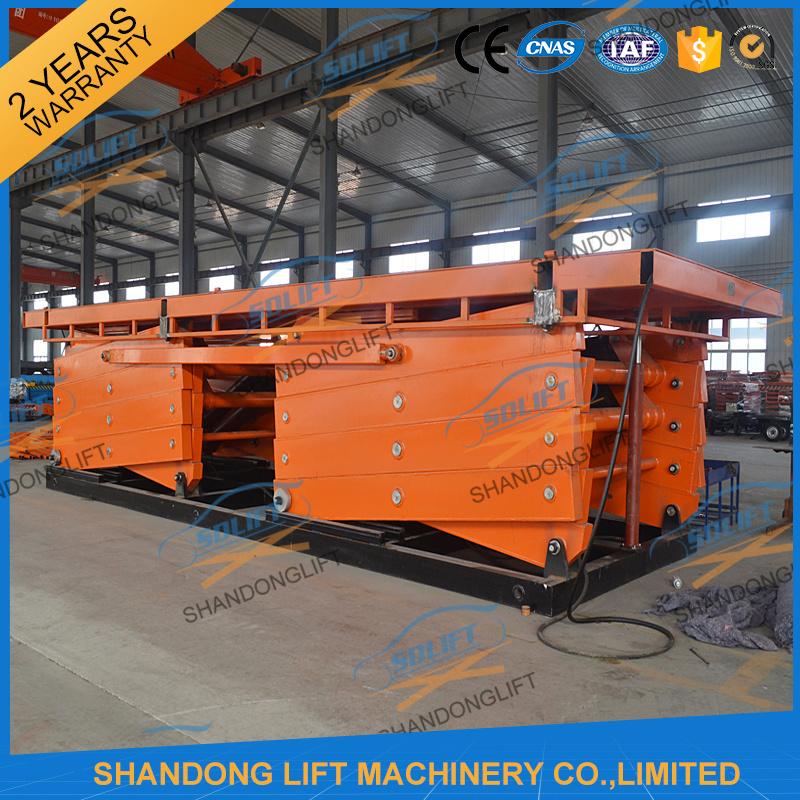 Heavy Duty Hydraulic Large Platform Scissor Car Lift for Sale