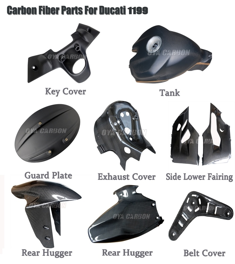 Carbon Fiber Motorcycle Bodywork for 1199 Panigale
