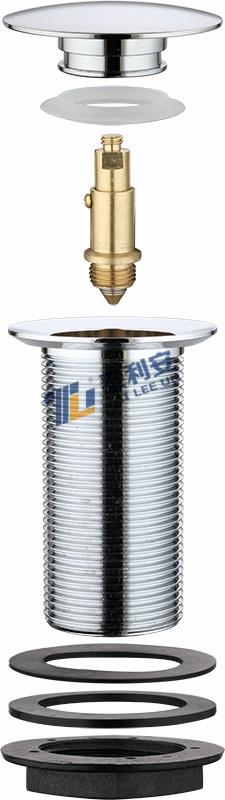 Sanitary Ware Pop up Chrome Plated Brass Basin Waste Mushroom Cap (T1011)