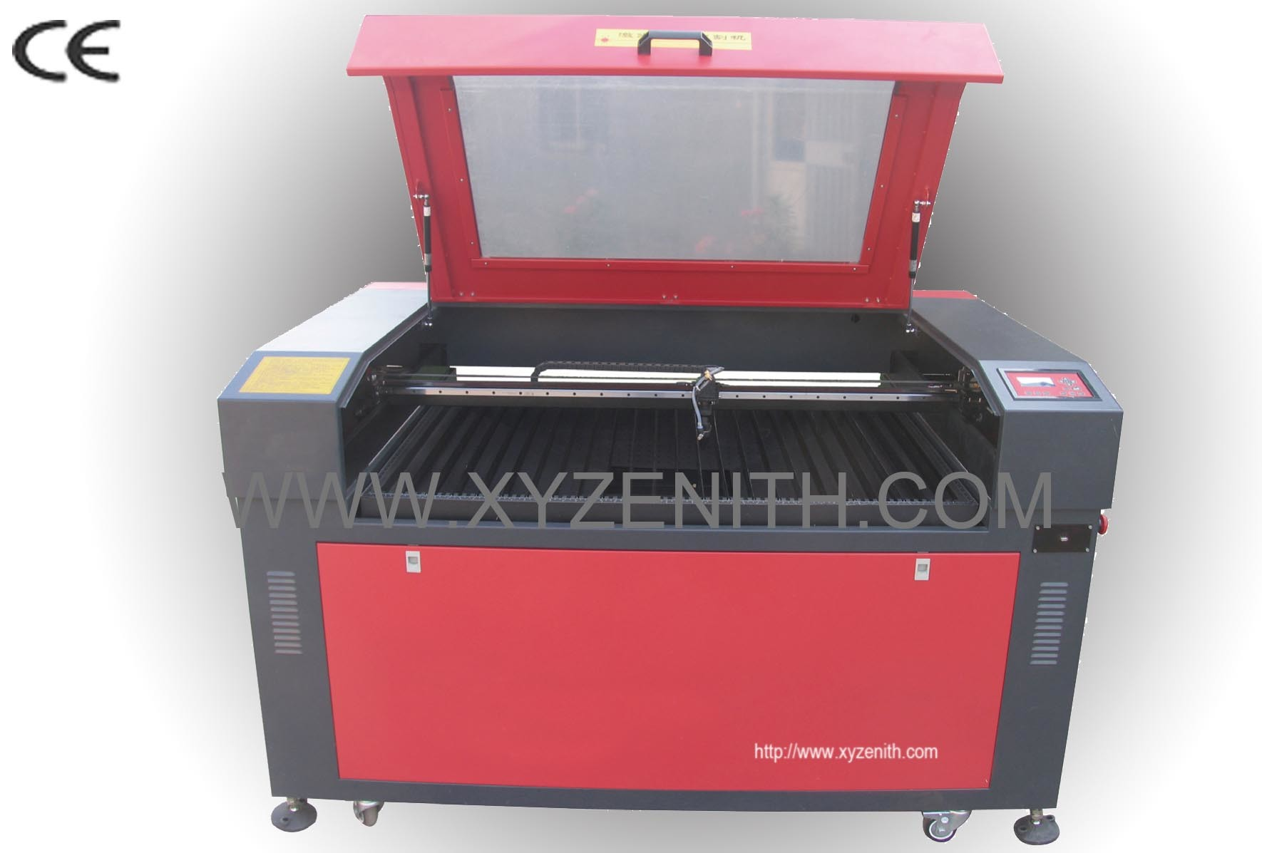 China laser engraving cutting machine with motorized up for Table up down extensible