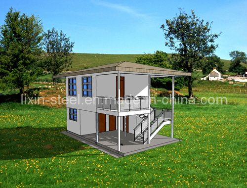 China container house villa two bedrooms photos for Villa container