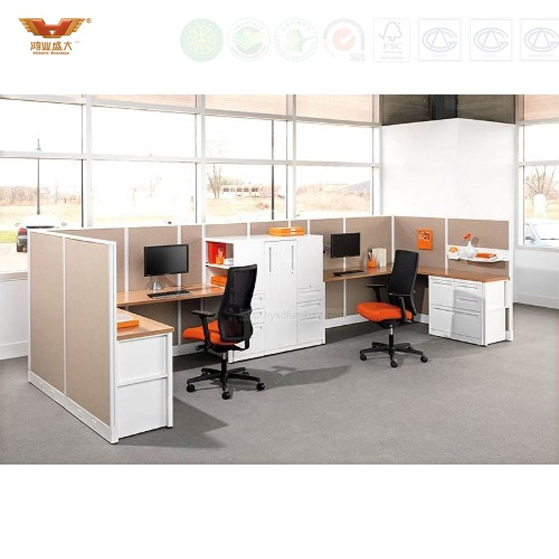 Hot Sale New Design Modern Straight Office Partition Workstation (HY-2939)