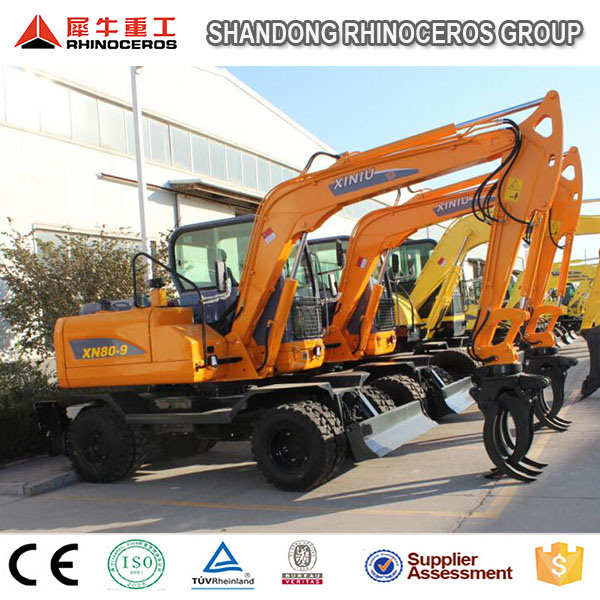 2016 Hot Sale Excavator, 8t Wheel Crawler Excavator with Cheap Price
