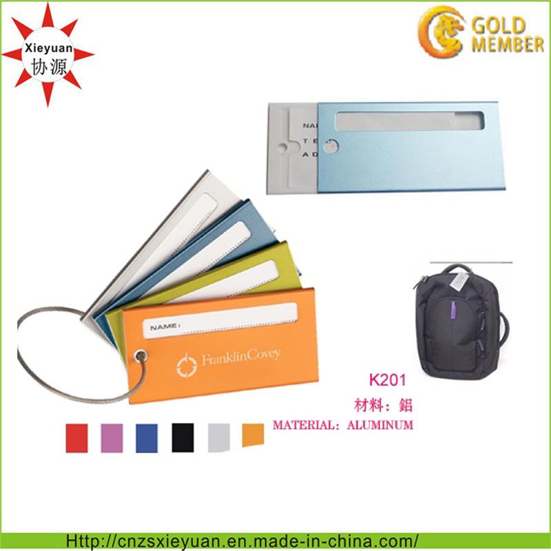 Metal Aluminum Customer Travel Luggage Tag
