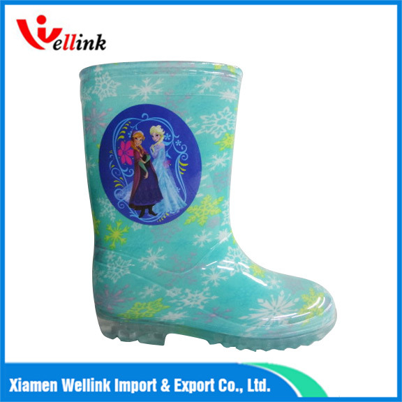 Children′s Cartoon Print Rubber Boots