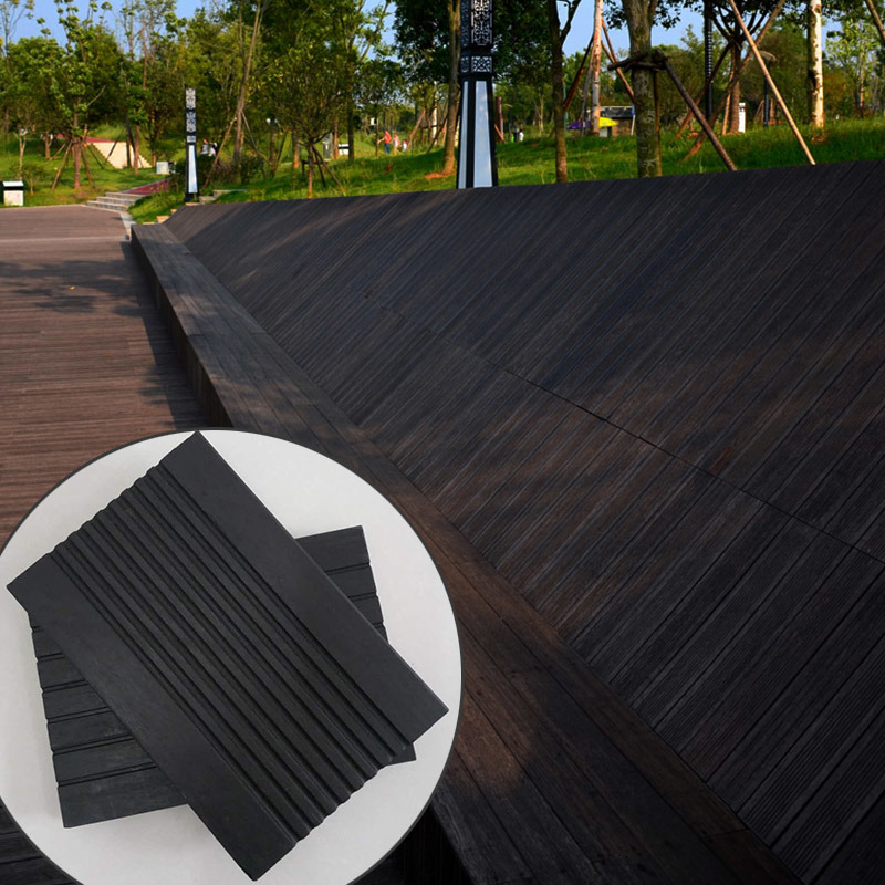 Popular Reconstituted Outdoor Bamboo Flooring, Deep Carbonized Color 20mm