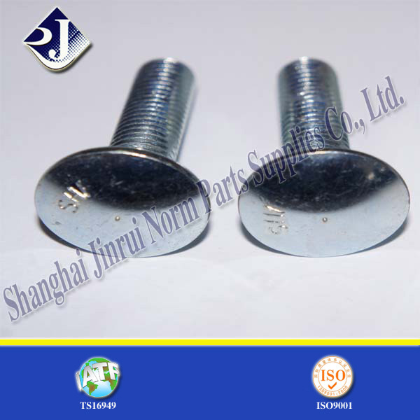 Carbon Steel Zinc Plated Round Head Bolt (ASME B18.5)