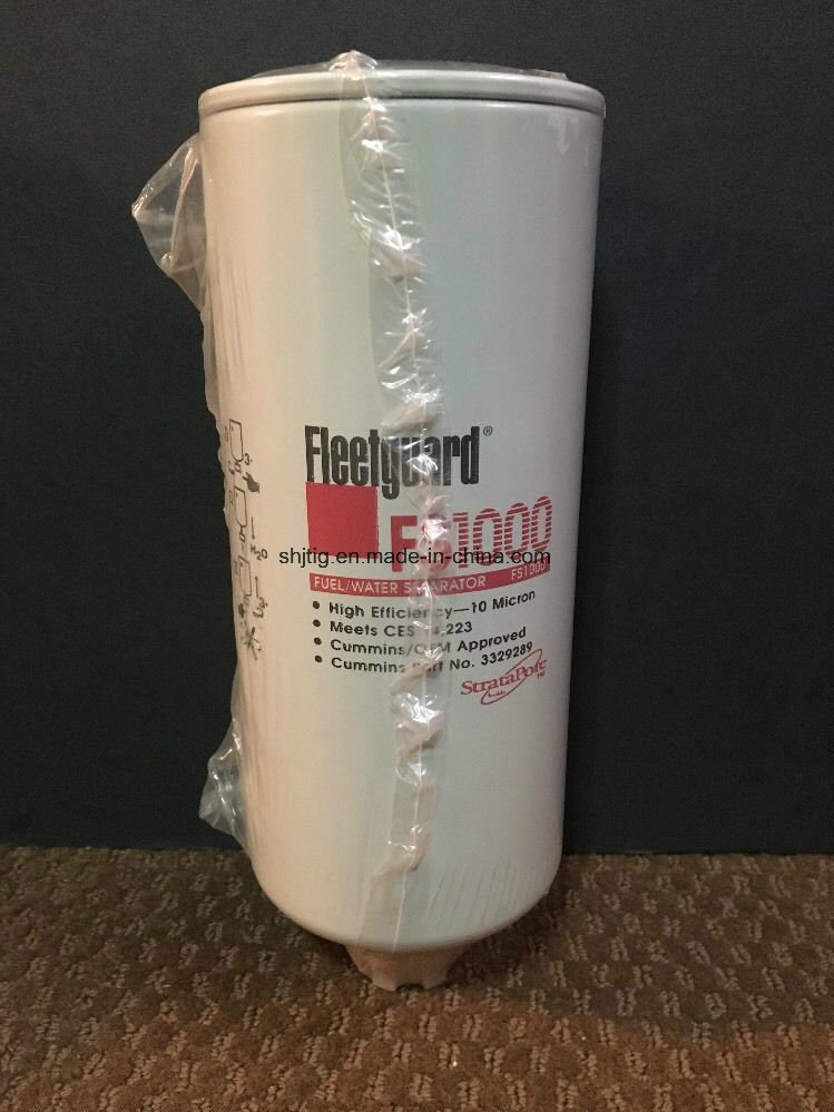 Fs1000 Fleetguard Fuel Filter for Caterpillar, Cummins Engines; Kenworth, Volvo Trucks