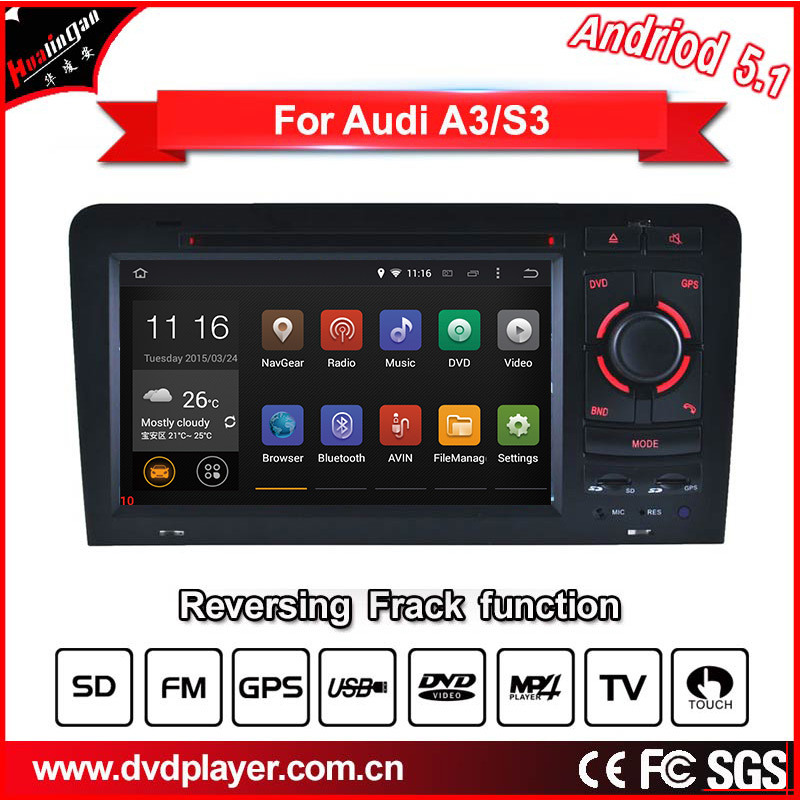 Carplay Car DVD Players for Audi A3 S3 Android GPS Systems iPod Radio Bluetooth 3G WiFi