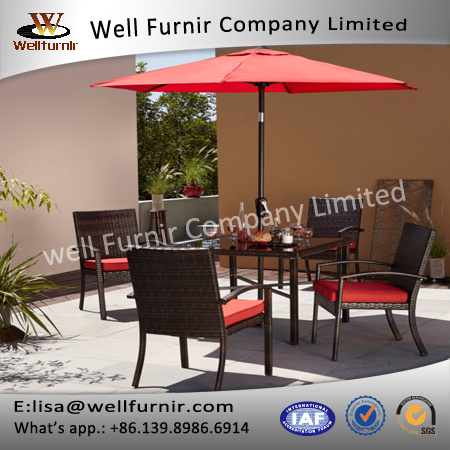 Well Furnir T-017 Patio Dining Sofa Set