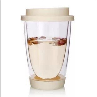 350ml Glass Mug Double Wall Coffee Cup