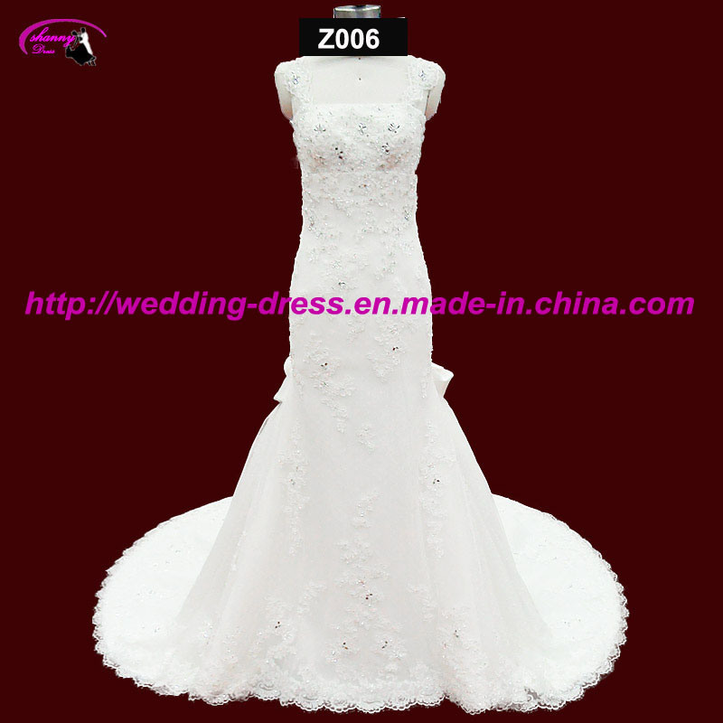 Hot Sale Spaghetti Strap Bridal Wedding Gown
