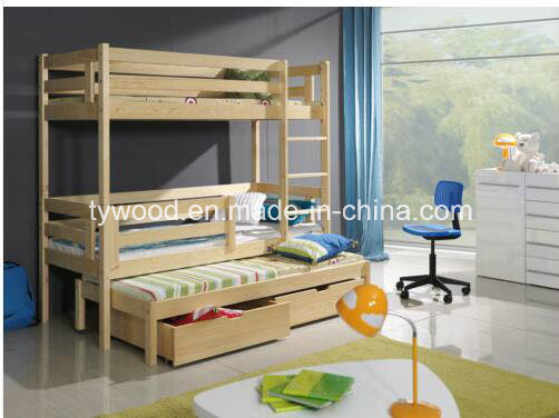 UK Standard 3FT Single Wooden Bunk Bed-Triple Bed