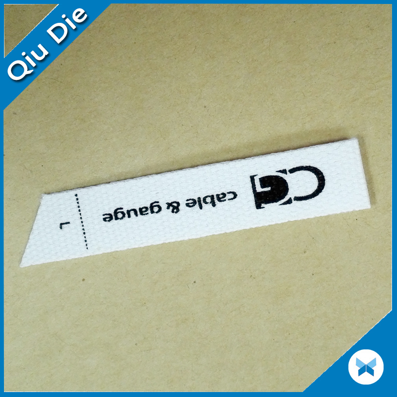 Designer Brand Silkscreen Printed Cotton Clothes Label