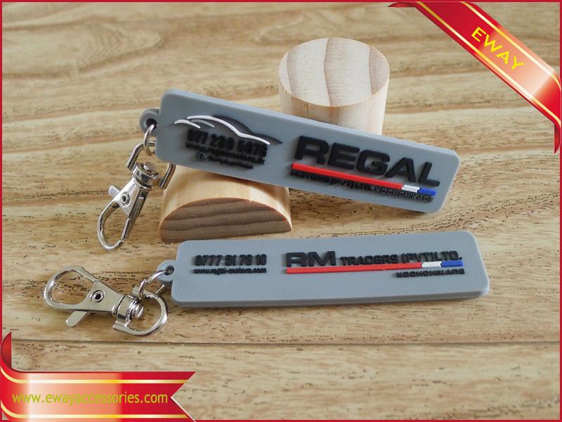 Rubber Keychain Logo PVC Promotional Keychain