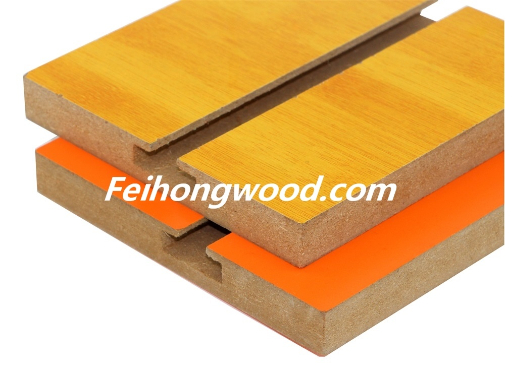 Grooved MDF (Medium-density firbreboard) for Furniture