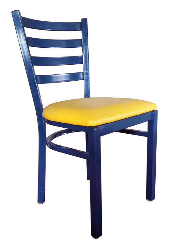 Colorful Upholstered Metal Dining Chair