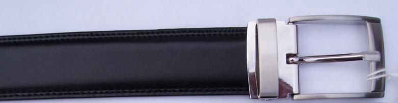 Man′s Black Reversible Split Leather Belt