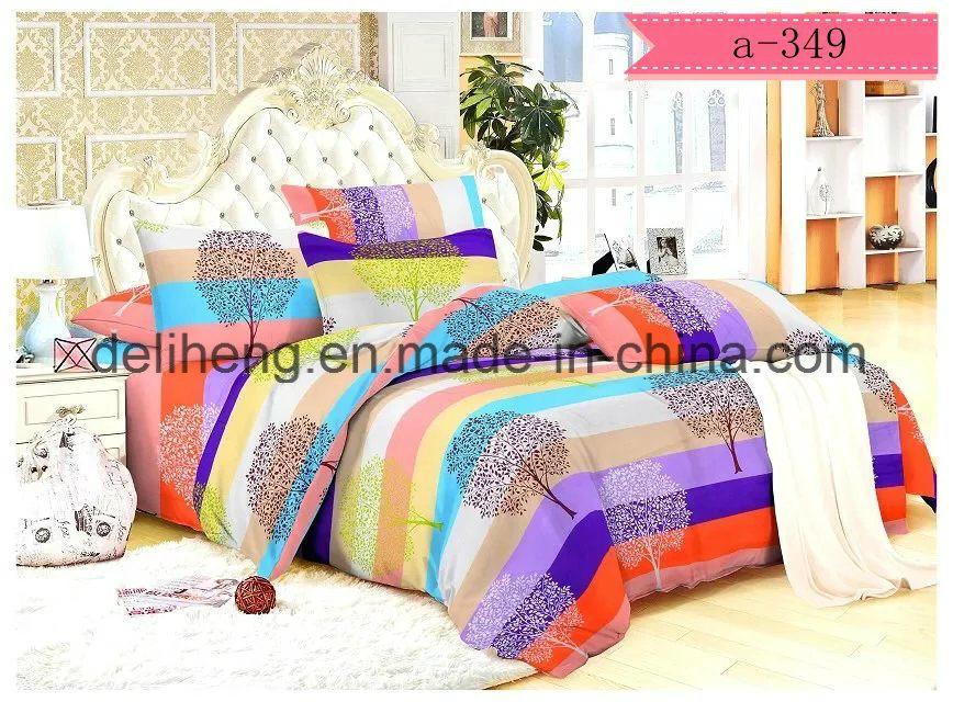 95-105GSM Velvet Microfiber Polyester Printed Fabric for Bed Sheet