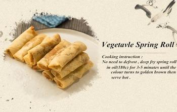 HACCP Brc Certifacte Tsingtao Vegetable 50g/Piece Spring Rolls in Frozen Cookin
