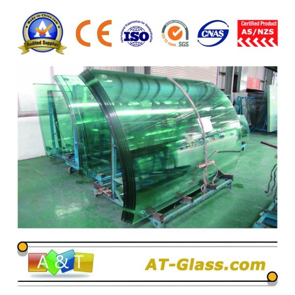 5mm-19mm Bent Tempered Glass/Bent Tougheened Glass with AS-NZS 2208-1996/CE Certificate