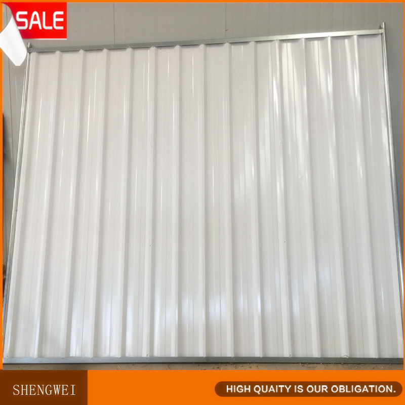 Super Quality Colorbond Solid Steel Temporary Hoarding Fencing Panels