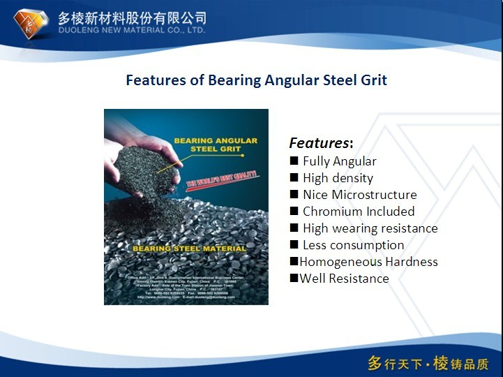 Fatigue Resistance Steel Grit G25 for Sand Blasting