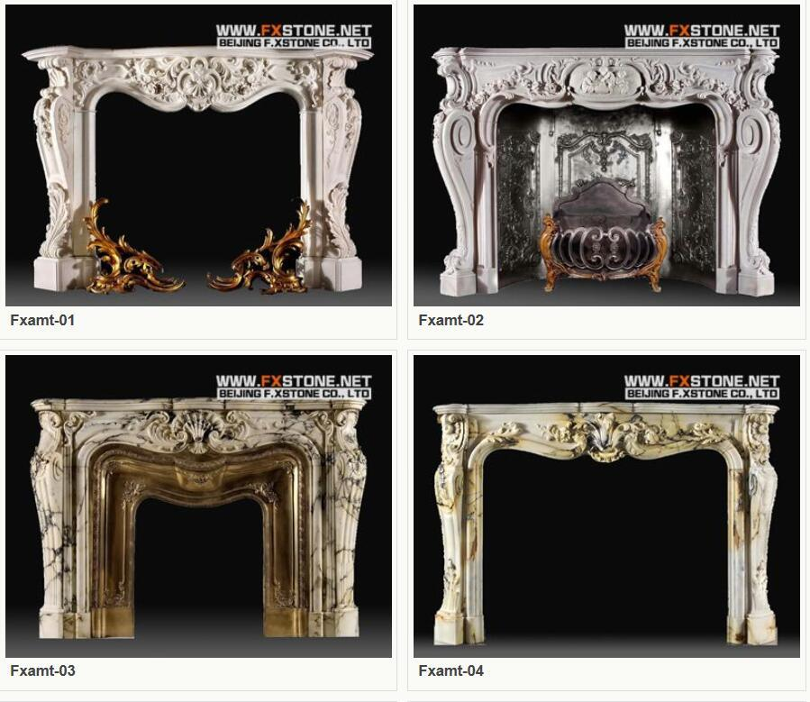 Marble Fireplaces Mantel Stone Fireplace/Stone Carving/ Marble Mantel