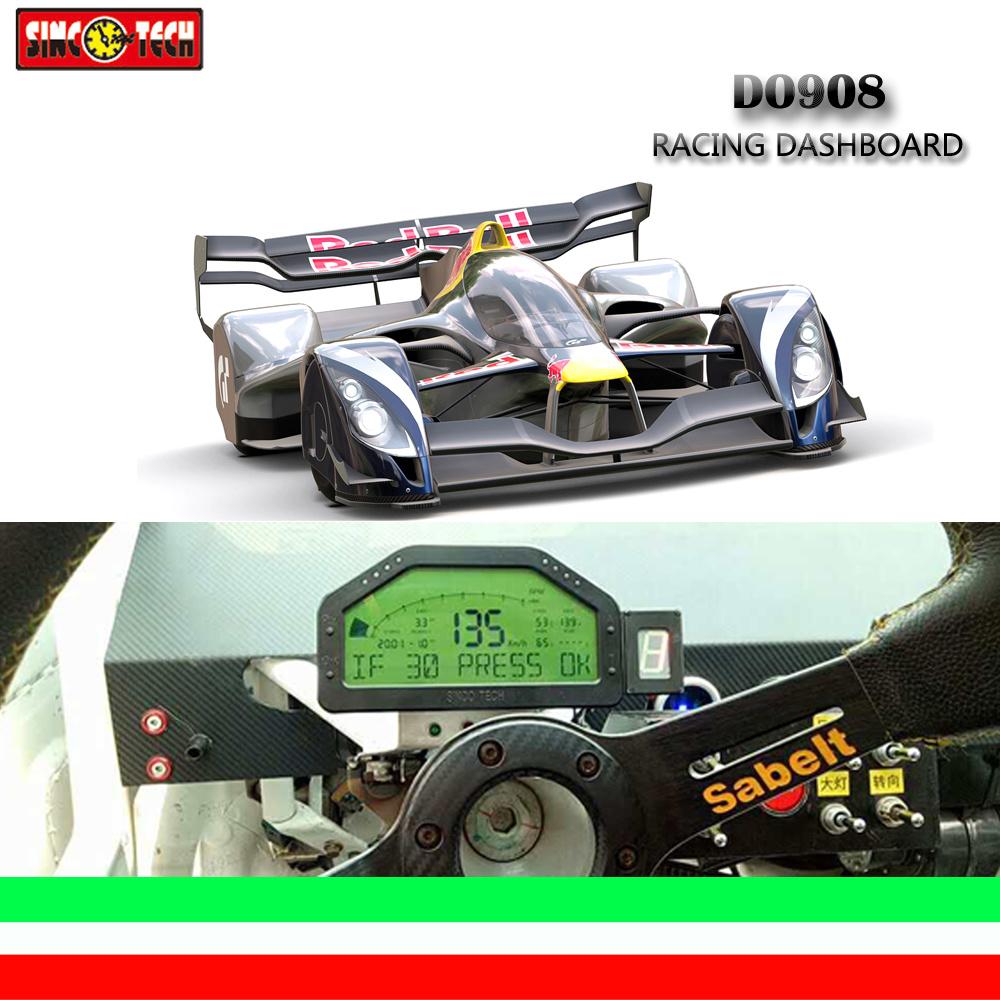 Multi Function Combination Gauge Race Dash Board Gauge Digital Dash Display (908)