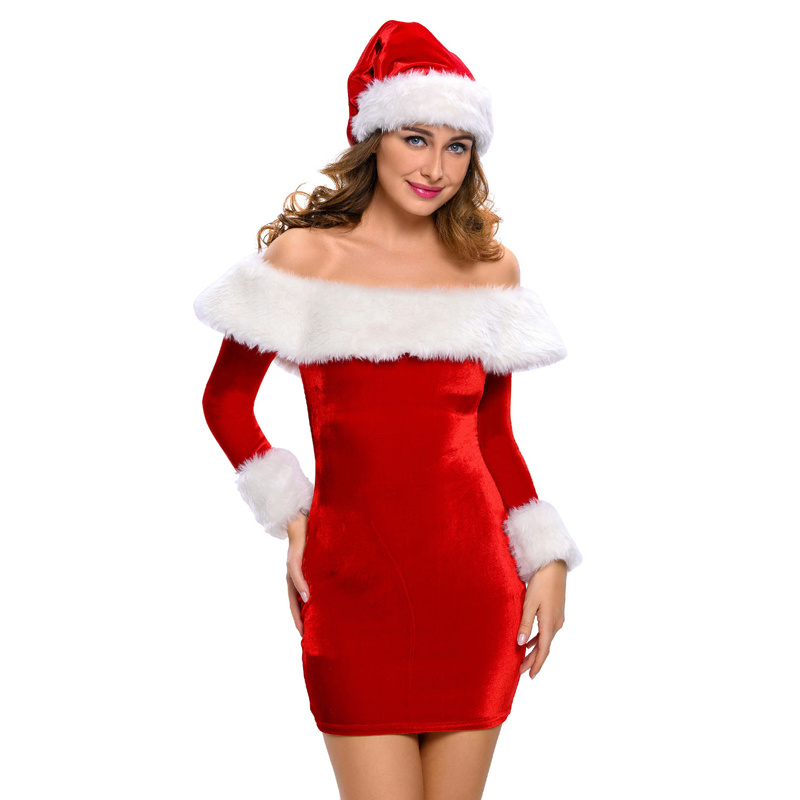 2018 Sexy Delightful Santa Sweetie Adult Christmas Dress Costume