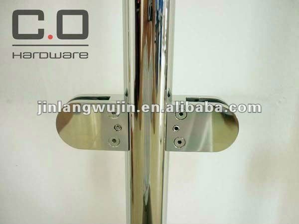 Stainless Steel Stair Handrail Post Glass Clamp (CO-3917)