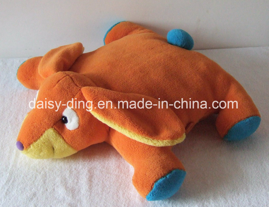 Plush Folded Lion Character Cushion with Soft Material