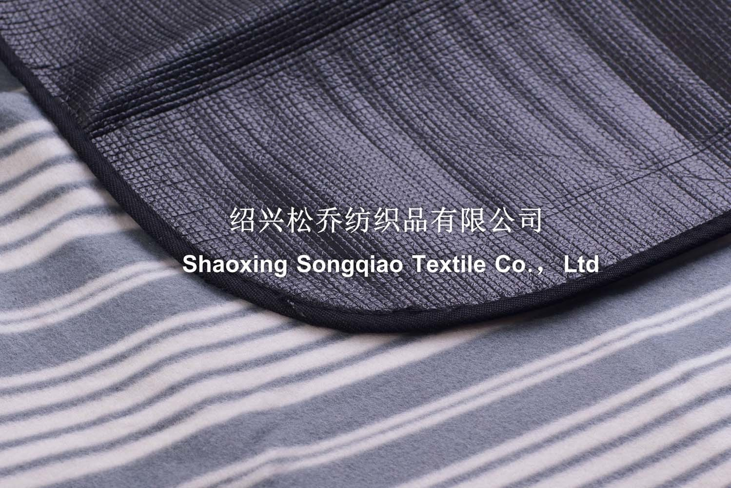 Three in One Stripe Printed Polyester Fleece Picnic Blanket/Custom Blanket