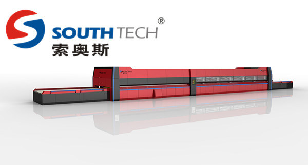 Southtech Glass Machine Flat with Passing Section and Convection System Tempering Furnace