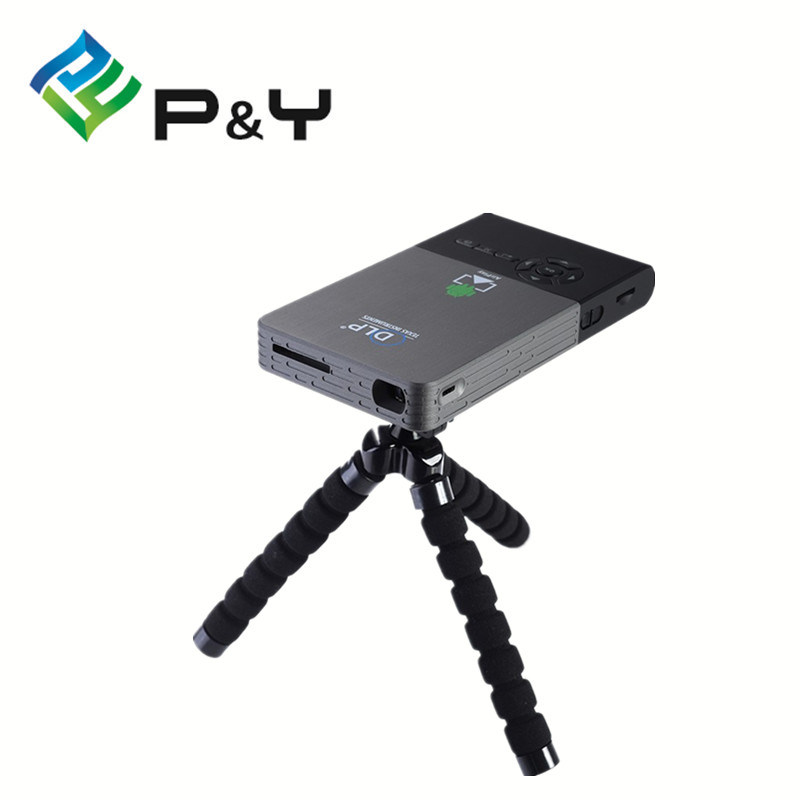Newest C2 Smart Mini Projector Portable WiFi Project Dlna Android OS 2g DDR 16g ROM
