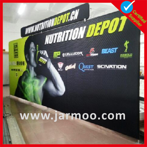 Custom Indoor Trade Show Advertising Circular Tension Ceiling Hanging Banner