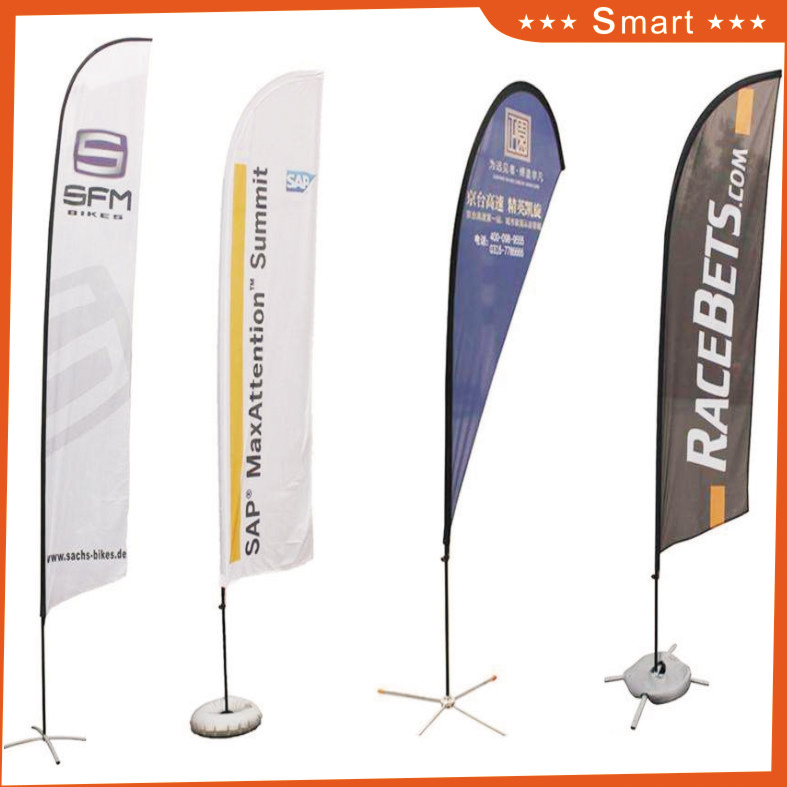 4PCS Custom Teardrop Feather Flag for Outdoor or Event Advertising or Sandbeach Model No.: Qz-012