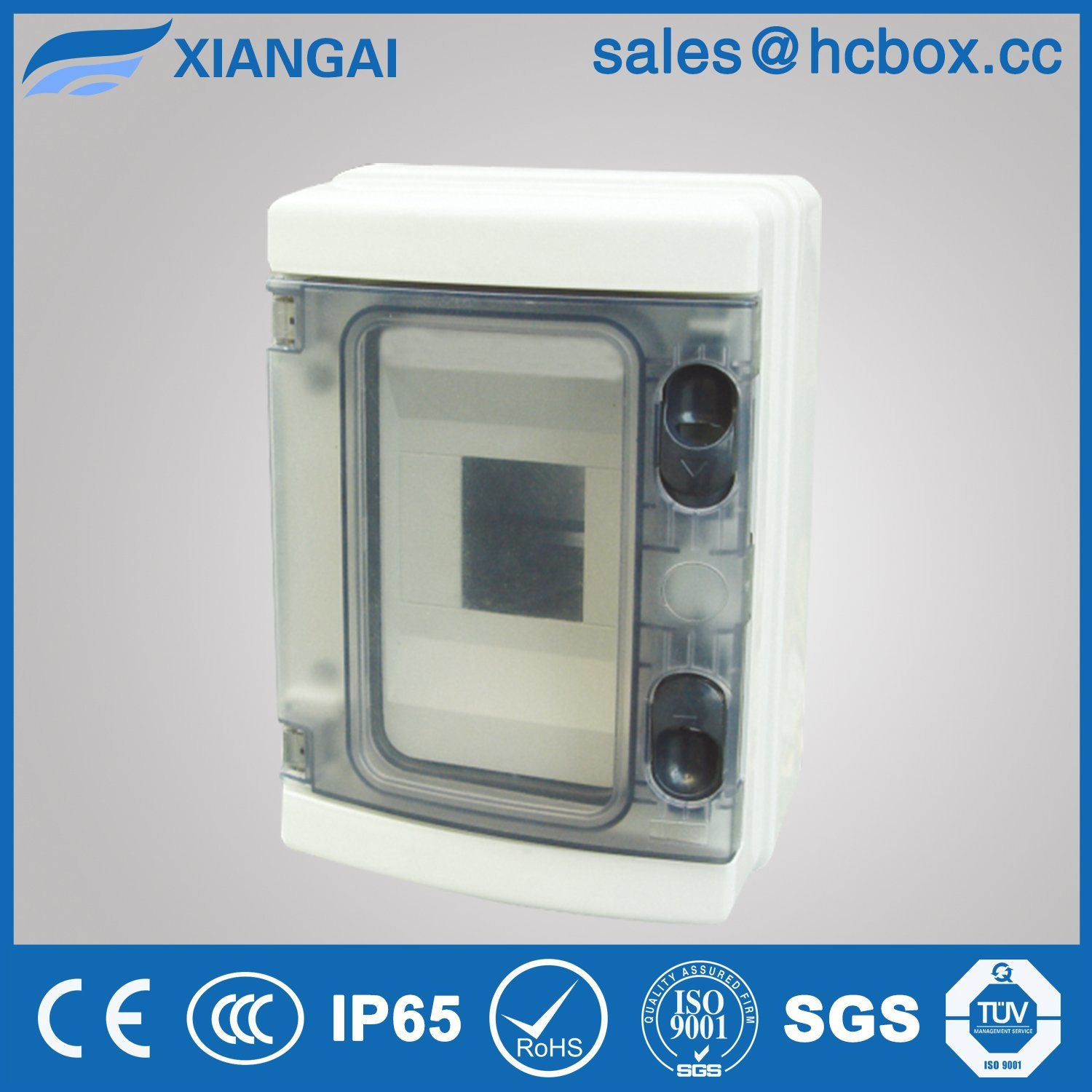 Plastic Waterproof Distribution Box IP65 Outdoor Distribution Box Hc-Ha 4ways