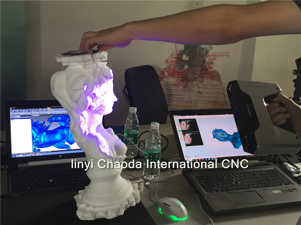 3D 4 Axis Foam Cutting CNC Machine with 3D Scanner for Big Statue