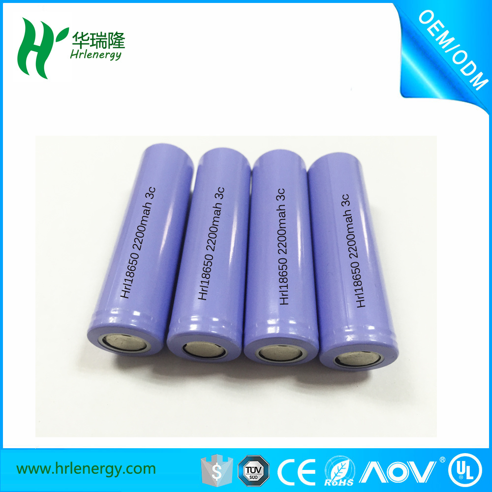 High End Li Ion Polymer Battery 3.7V 2200mAh for Strong Light Flashlight